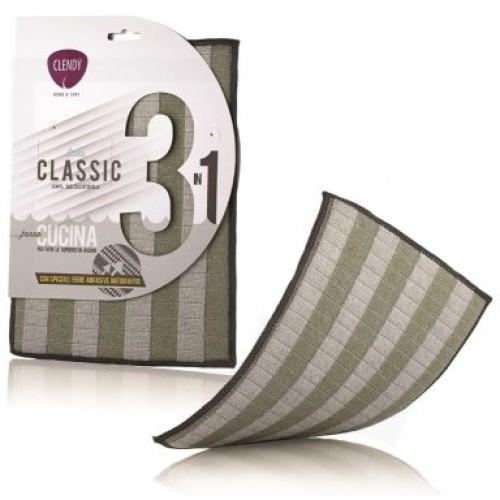 Laveta bucatarie 3in1 Clendy Classic pentru toate suprafetele din inox