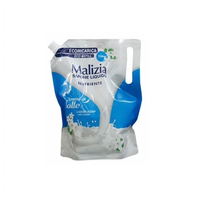 Rezerva sapun de maini Malizia  crema de lapte 1000ml