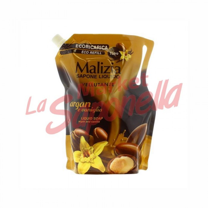 Rezerva sapun lichid Malizia cu argan si vanilie 1 Lt