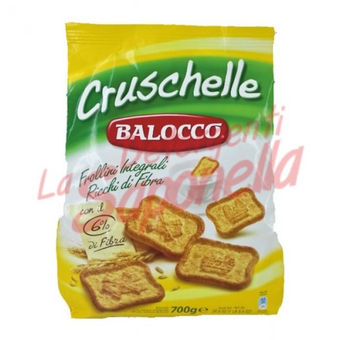 """Biscuiti integrali Balocco """"Cruschelle"""" bogati in fibra 700 gr"""
