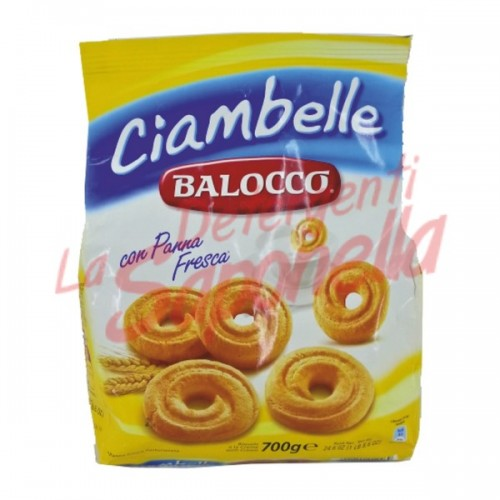 "Biscuiti Balocco ""Ciambelle"" cu smantana proaspata 700 gr"