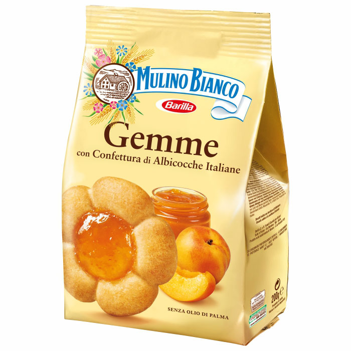 Biscuiti Mulino Bianco Gemme cu umplutura de dulceata de caise 200gr