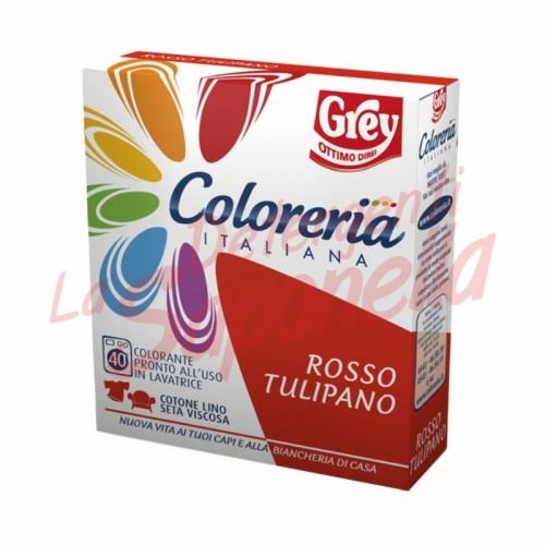Colorant tesaturi Grey gata de utilizare in masina de spalat-rosu lalea- 100 g + 75 ml