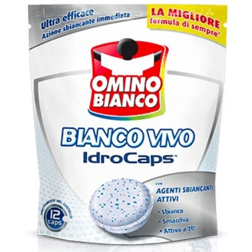 Capsule pentru pete Omino Bianco Bianco Vivo 12 buc