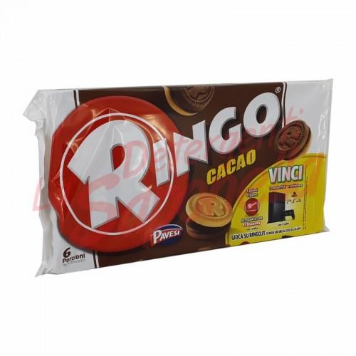 Biscuiti Ringo umpluti cu crema de cacao 330 gr-6 portii cu cate 6 biscuiti