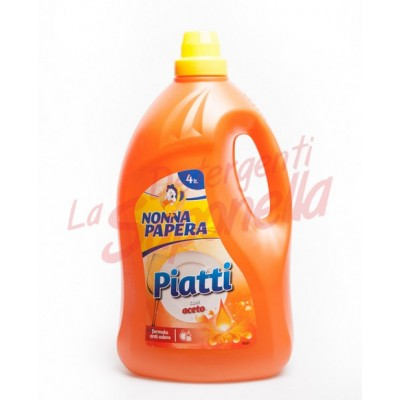 Detergent de vase Nonna Papera formula anti-miros cu otet 4 L