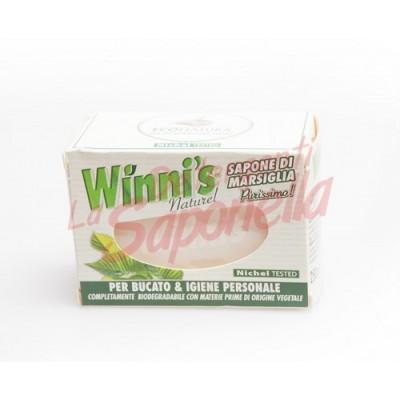 Sapun solid Winni's Naturel biodegradabil cu materii de origine vegetala pentru rufe si igiena personala marsiglia 250 g