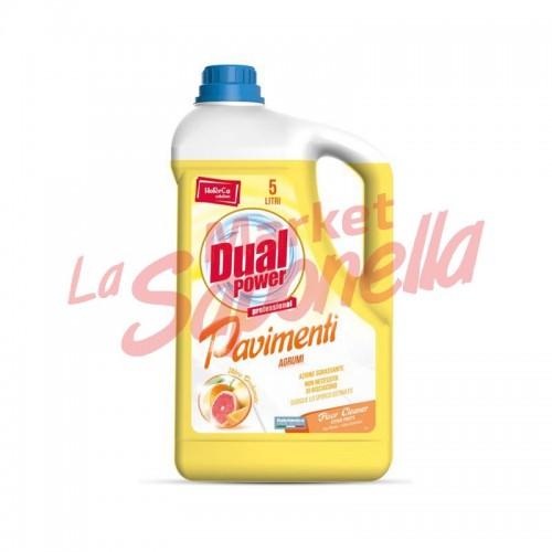 Detergent profesional Dual Power pentru pardoseli cu aroma de citrice 5L