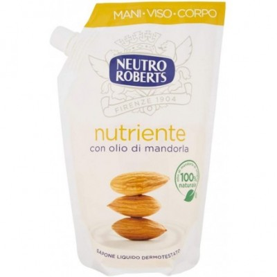 Sapun lichid rezerva Neutro Roberts hranitor cu ulei de migdale  400ml
