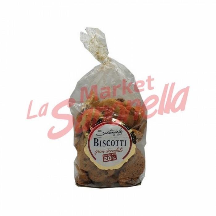 Biscuiti cu picaturi de ciocolata 20% Santangelo – 400 g