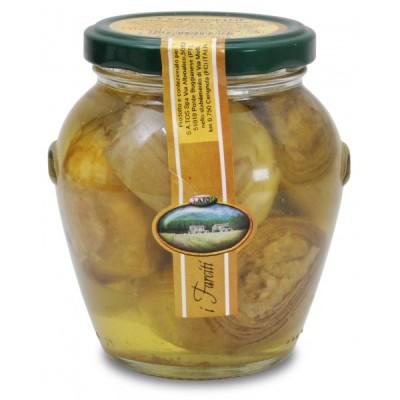 Carciofini Satos in ulei de floarea soarelui umpluti cu ton 290gr