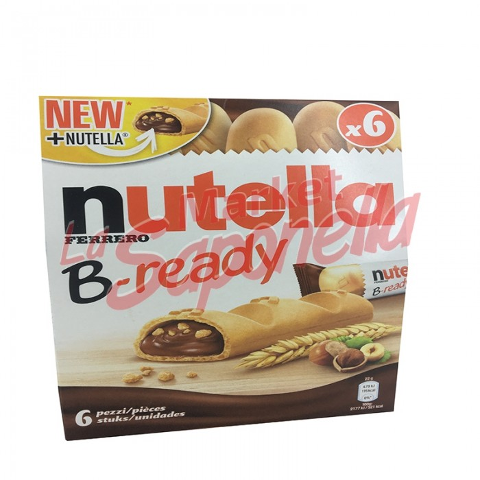 Napolitana umpluta cu ciocolata Nutella B-ready 132 gr-6 bucati