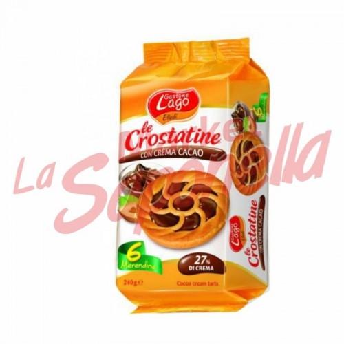 Tarte Gastone Lago cu crema de cacao 6x40 gr