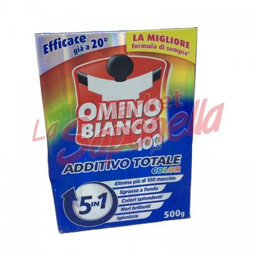Aditiv pete 5 in 1 Omino Bianco pentru protejarea culorilor 500 gr