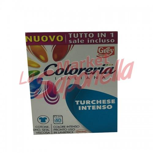 Colorant tesaturi Grey gata de utilizare in masina de spalat-turcoaz intens- 350 gr