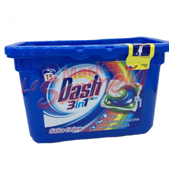 Detergent Dash pernute 3 in 1 color-15 spalari