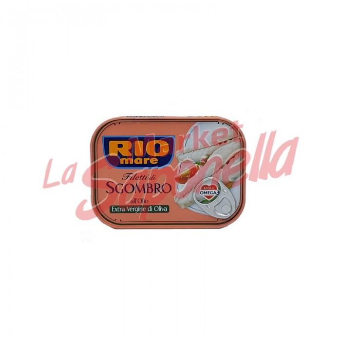 File de macrou Rio Mare in ulei de masline extra virgin 135 gr