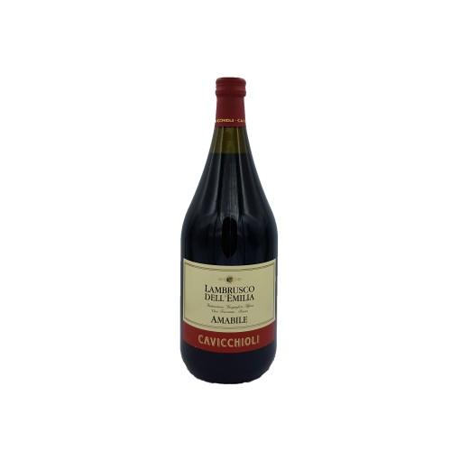 Vin rosu Lambrusco Dell'Emilia Amabile Cavicchioli 1,5 L