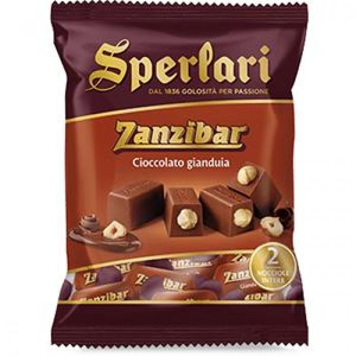 Ciocolata gianduia Sperlari Zanzibar cu lapte si alune intregi 117gr