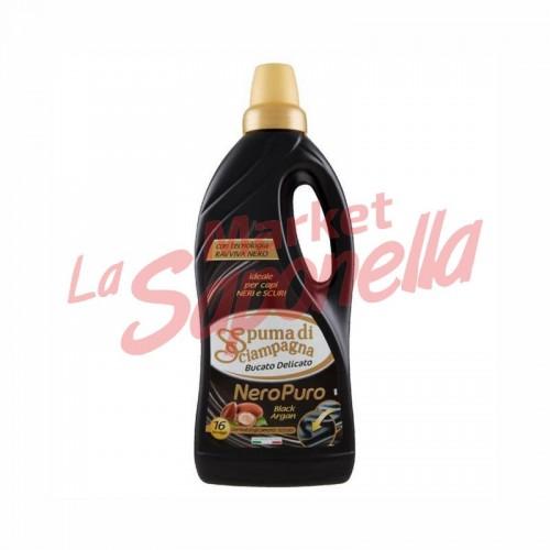 Detergent lichid pentru haine negre Spuma Di Sciampagna argan1 L - 16 spalari