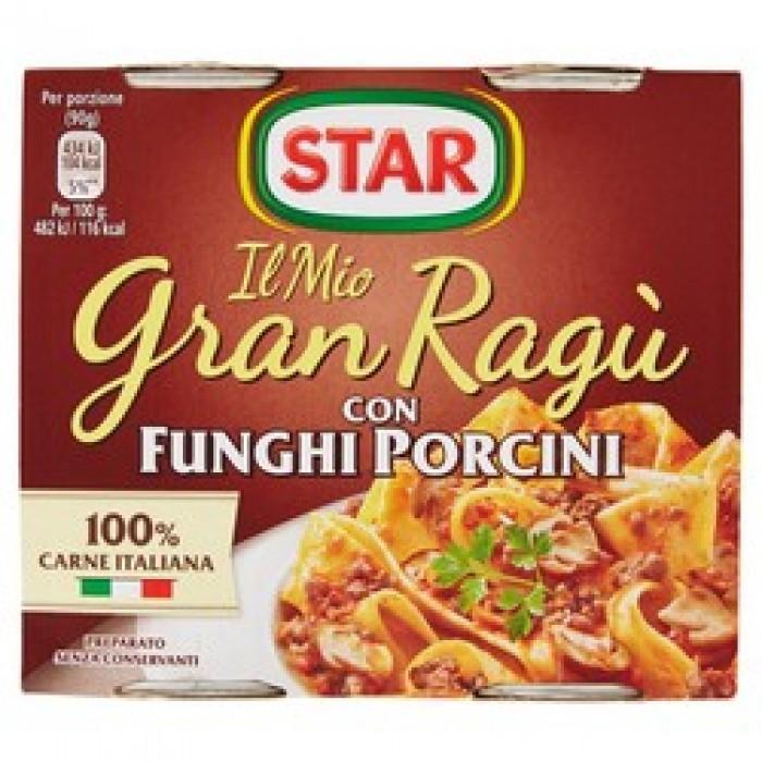 Sos paste Gran Ragu Star cu ciuperci porcini fara gluten 2*180gr