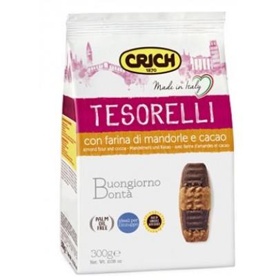 Biscuiti cu faina de migdale si cacao Crich Tesorelli 300gr