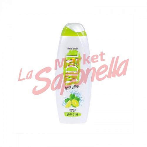 Gel de dus cu menta si lamaie verde Vidal – 500 ml
