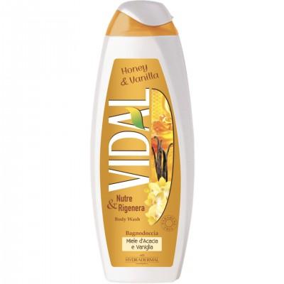Gel de dus cu miere de salcam si vanilie Vidal 500ml